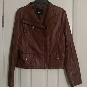 Faux Brown leather mossimo jacket size M